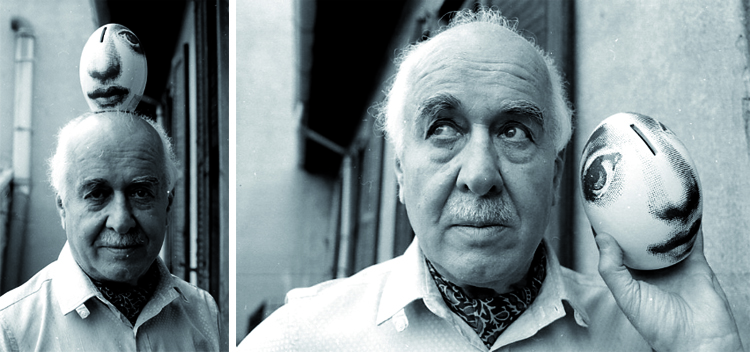 Piero Fornasetti - Portrait by Howard Grey - 1983